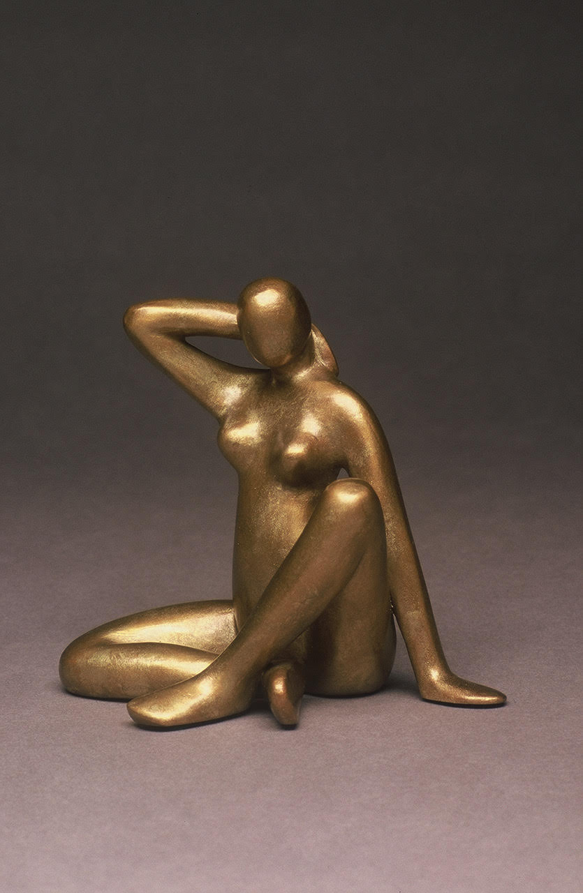 "Seated Nude   6"" H x 6"" D x 6"" W Bronze edition of 25 Sold Out"