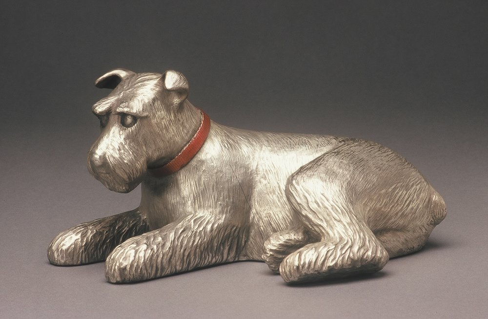 "Reclining Schnauzer   6"" H x 11.5"" D x 8"" W Bronze edition of 25 (2 remaining)"