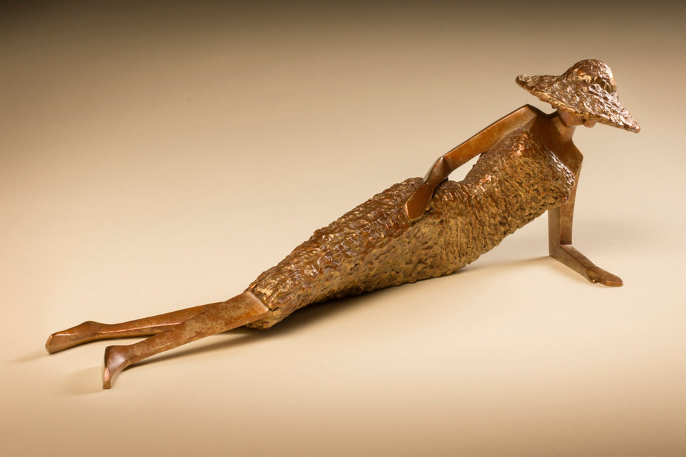 "Sassy   15"" L x 5"" H x 5"" W Bronze edition of 25"
