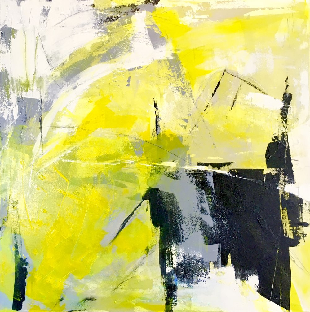 Black & Yellow 36x36