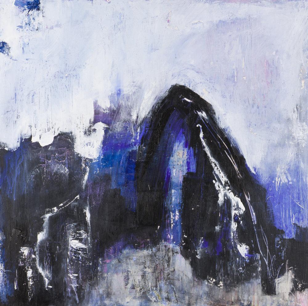 Blue Number 9 - 24x24
