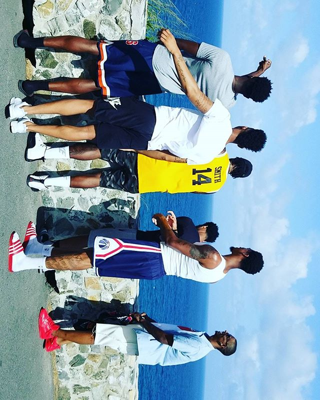 NBA players at Point Udal, St. Croix courtesy of Island Vybez