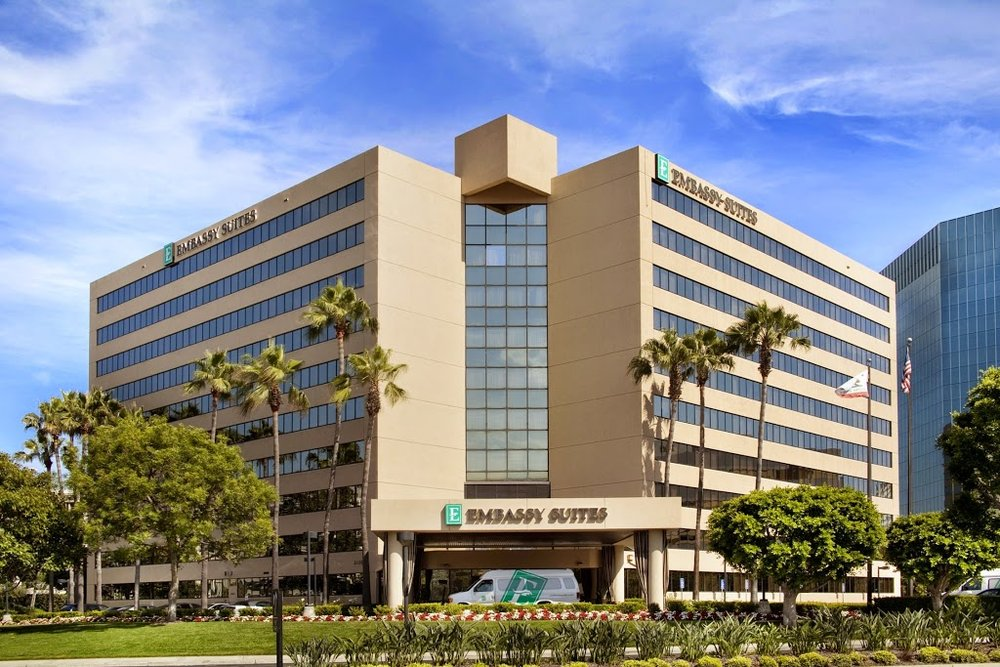 EMBASSY SUITES - IRVINE * - 2120 Main StreetIrvine, CA 92614949.261.5301Map LinkTripAdvisor Reviews* Corporate Rate bookable online or by calling in. Use code 0002699263.