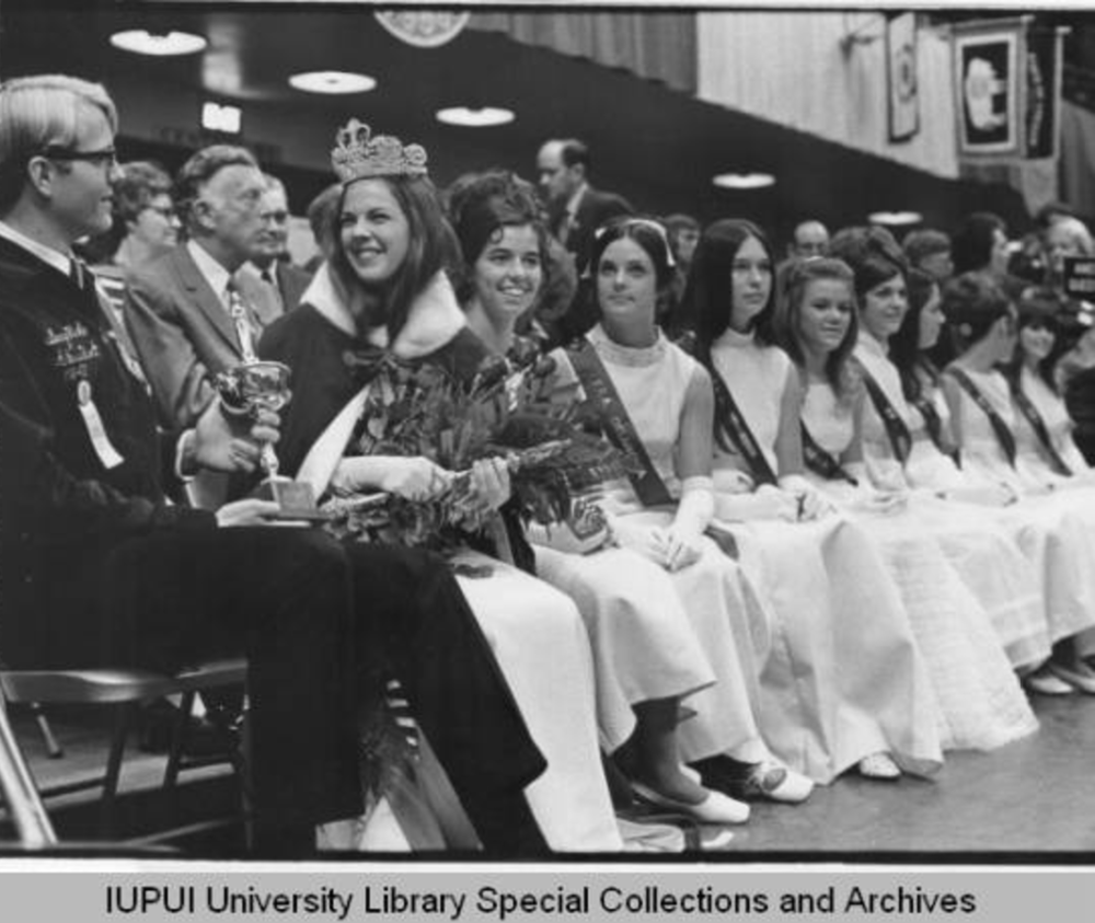 1970 American Royal Queen contestants: Sharon Kemp of Maryland was elected American Royal Queen. // Copyright Trustees of Indiana University
