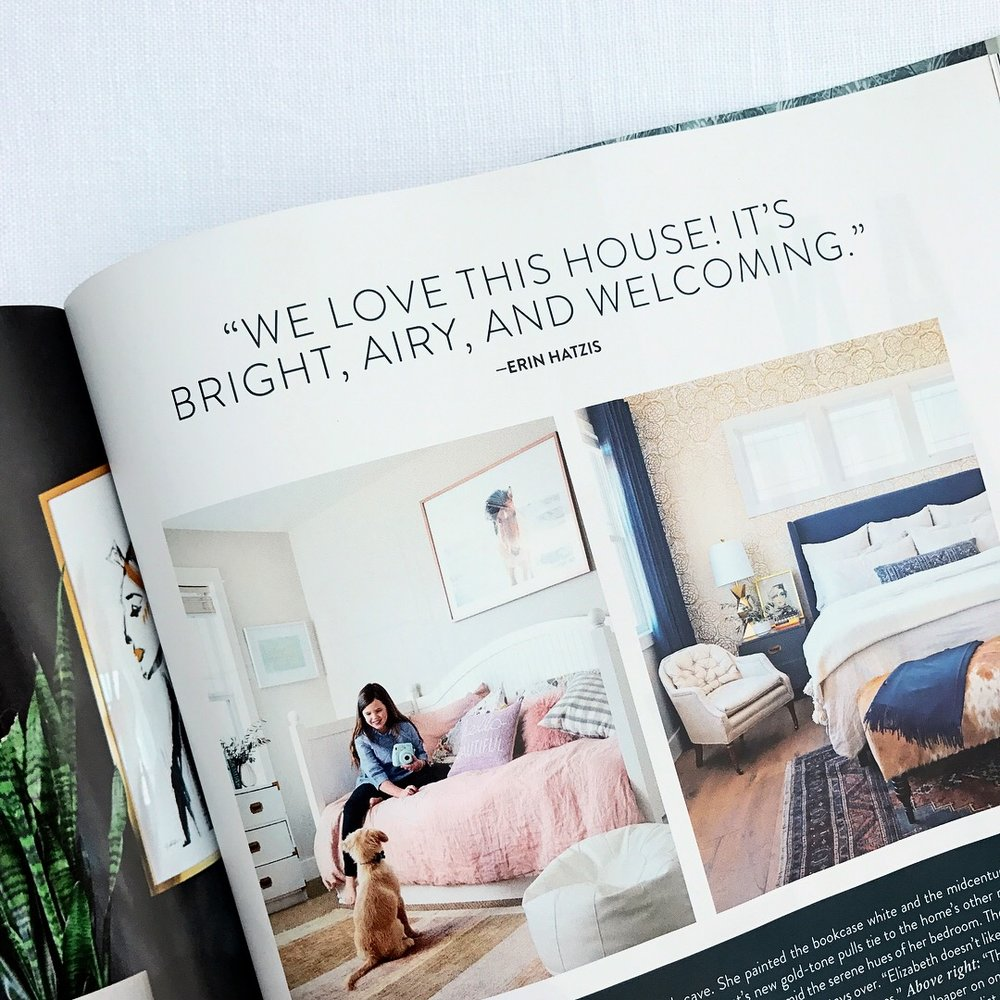 My pony print, featured above the young girls bed in this beautiful home tour article!