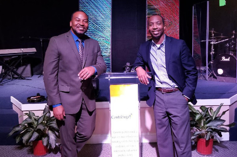 Minister Matthew Chapman ministers at Centrifuge Church with Pastor Travis Newkirk