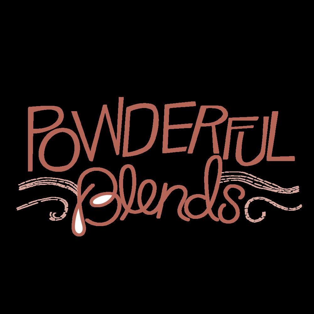 Powderful Logo - logo for a powdered smoothie enhancer product