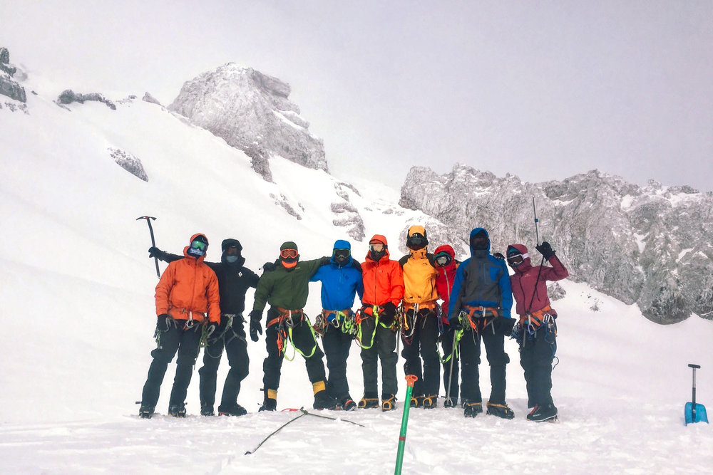 The best part - spending many nights in a shack at Camp Muir with these people!