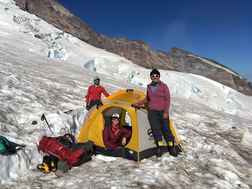 Camping on a glacier was one of my favorite experiences ever. I have since fallen in love with the ice and plan to spend many more nights in this kind of terrain.