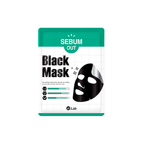 What is it?   The W.Lab Sebum Out Black Mask Sheet contains charcoal, white willow bark extract and oregano to purify skin, remove sebum, and melt away whiteheads and blackheads. It helps keep skin clear and controls excessive sebum secretion.   How to use?   1. After cleansing, tone the skin.  2. Apply mask.  3. Leave on for 15 to 20 minutes.  4. Remove mask and pat any remaining essence into skin.