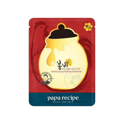 What is it?   The Papa Recipe Bombee Ginseng Red Honey Oil Mask richly moisturizes and nourishes the skin with the mulberry paper sheet soaked with oil essence containing honey and red ginseng extracts, which help to keep your skin moist and resilient.   How to use?   1. After cleansing, tone the skin.  2. Apply mask.  3. Leave on for 20 to 30 minutes.  4. Remove mask and pat any remaining essence into skin.
