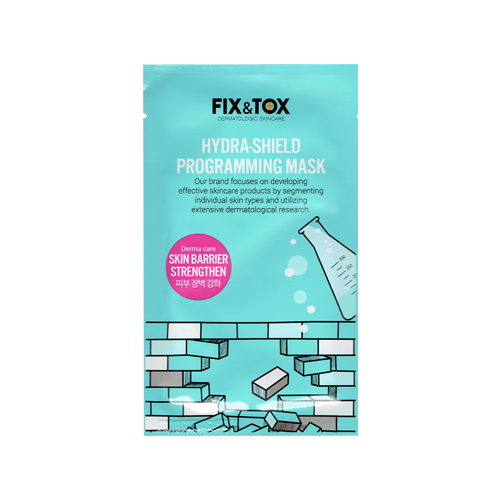 What is it?   The Fix & Tox Hydra Shield Programming Mask is packed with nutrients contained in the 3 protein complex. It strengthens your skin barrier and forms a moisturizing layer to keep the skin energised and moisturised.   How to use?   1. After cleansing, tone the skin.  2. Remove the protective film and apply the mask.  3. Leave on for 15 to 20 minutes.  4. Remove mask and pat any remaining essence into skin.