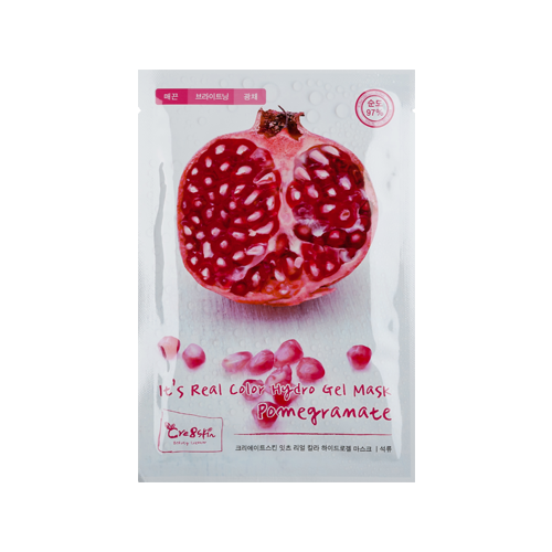 What is it?   The Cre8skin It's Real Color Pomegranate Hydrogel Mask contains seven patented nature plants extracts, as well as collagen and hyaluronic acid to intensively hydrate dry and dehydrated skin.    How to use?   1. After cleansing, tone the skin.  2. Apply mask.  3. Leave on for 20 to 30 minutes.  4. Remove mask and pat any remaining essence into skin.