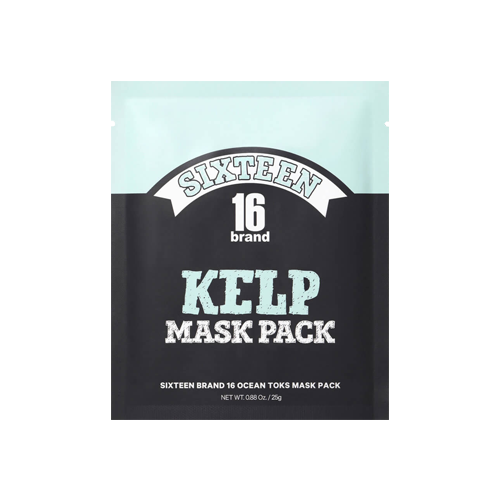 What is it?   The 16brand Kelp Mask Pack contains kelp extracts to mosturise skin, while anti-aging ingredients like seawater, snail slime filtrate and pearl extract work to reveal a firmer, more youthful looking complexion.   How to use?   1. After cleansing, tone the skin.  2. Apply the mask and remove the fabric attached to the outer layer of the mask.  3. Leave on for 10 to 20 minutes.  4. Remove mask and pat any remaining essence into skin.