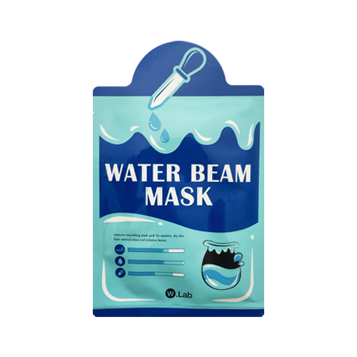 What is it?   The W.Lab Water Beam Mask contains a powerful trio of seawater, hyaluronic acid and ceramide to deeply moisturise and soothe the skin. This intensive nourishing mask pack is perfect for sensitive, dry skin affected from external stress and environmental factors.   How to use?   1. After cleansing, tone the skin.  2. Apply mask.  3. Leave on for 15 to 20 minutes.  4. Remove mask and pat any remaining essence into skin.