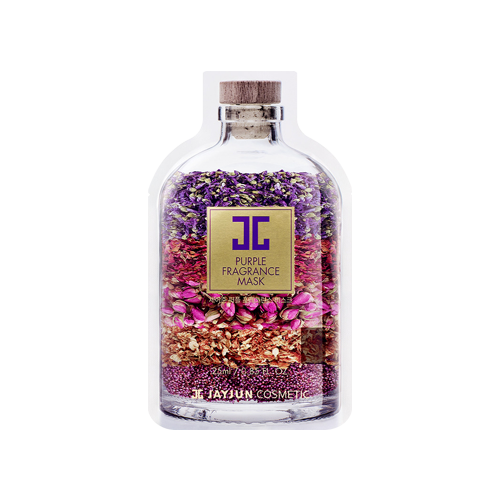 What is it?   The Jayjun Purple Fragrance Mask helps to instantly brighten dull and uneven skin tone with natural flower extracts such as Ipomoea morning glory and Iris Ensata. It also contains niacinamide and hyaluronic acid for their clarifying and hydrating properties.   How to use?   1. After cleansing, tone the skin.  2. Apply mask.  3. Leave on for 15 to 20 minutes.  4. Remove mask and pat any remaining essence into skin.