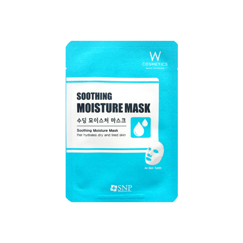 What is it?   The W Cosmetics SNP Soothing Moisture Mask contains Lavender Extract and Centella Asiatica Extract to protect and soothe sensitive skin, as well as Honey Extract and Rosa Canina Fruit Extract to create supple and plump skin.    How to use?   1. After cleansing, tone the skin.  2. Apply mask.  3. Leave on for 15 to 20 minutes.  4. Remove mask and pat any remaining essence into skin.