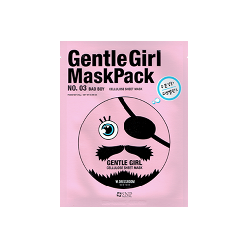 What is it?   The SNP Gentle Girl No. 3 Bad Boy Mask contains coconut water, coconut palm fruit juice, hyaluronic acid and trehalose to deeply moisturise dry or dehydrated skin.   How to use?   1. After cleansing, tone the skin.  2. Apply mask.  3. Leave on for 10 to 20 minutes.  4. Remove mask and pat any remaining essence into skin.