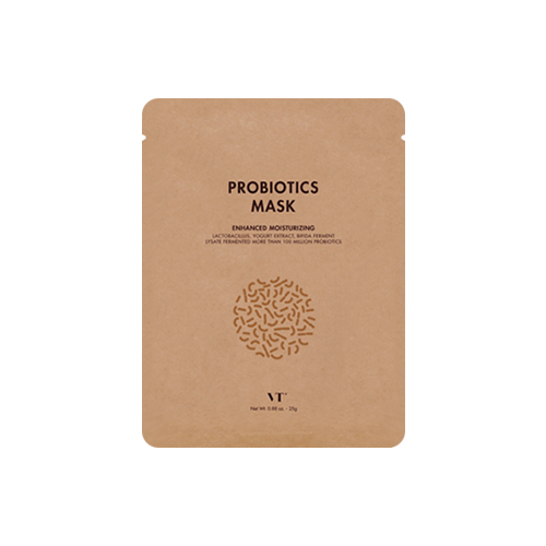 What is it?   The VT Cosmetic Probiotics Mask contains lactobacillus, bifida ferment lysate and yoghurt extract to moisturise and strengthen the skin barrier.   How to use?   1. After cleansing, tone the skin.  2. Apply mask.  3. Leave on for 10 to 20 minutes.  4. Remove mask and pat any remaining essence into skin.