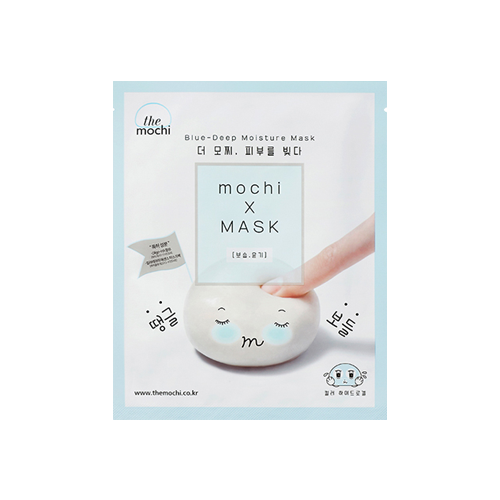 What is it?   The Mochi Blue-Deep Moisture Mask contains hyaluronic acid to deeply moisturise dry skin, while niacinamide and blueberry extract help to brighten and restore glow.   How to use?   1. After cleansing, tone the skin.  2. Remove the protective film and apply mask.  3. Leave on for 15 to 20 minutes.  4. Remove mask and pat any remaining essence into skin.