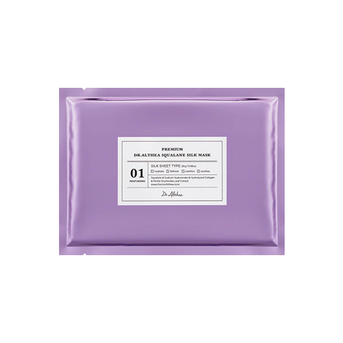 What is it?   The Dr. Althea Premium Squalane Silk Mask contains sodium hyaluronate, hydrolysed collagen and squalane to improve elasticity and reduce fine lines and wrinkles.   How to use?   1. After cleansing, tone the skin.  2. Remove the protective film and apply mask.  3. Leave on for 20 to 30 minutes.  4. Remove mask and pat any remaining essence into skin.