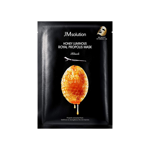 What is it?   The JMSolution Honey Luminous Royal Propolis Mask contains propolis extracted from beehives to moisturise and nourish dry and dehydrated skin.   How to use?   1. After cleansing, tone the skin.  2. Apply mask.  3. Leave on for 10 to 20 minutes.  4. Remove mask and pat any remaining essence into skin.
