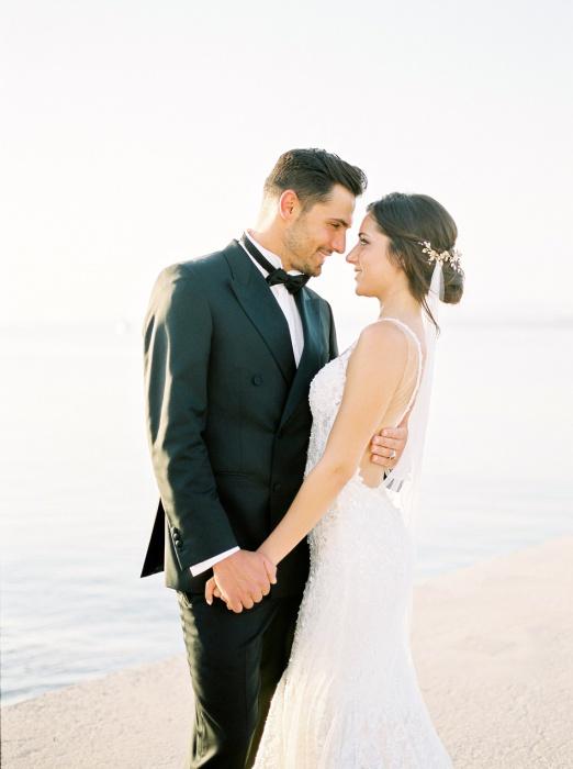 Bride wearing Galia Lahav wedding dress.
