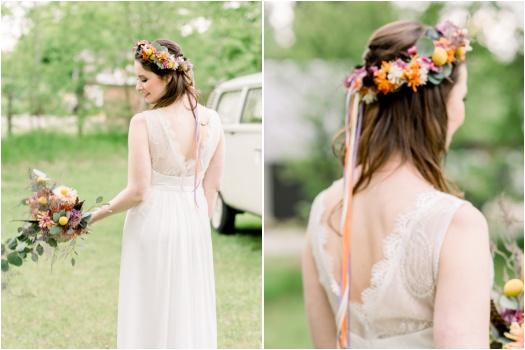 Boho chic bride style