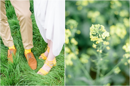 Bride and groom boho footwear