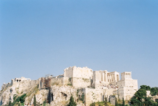 View of the Parthenon of Athens from Mars Hill