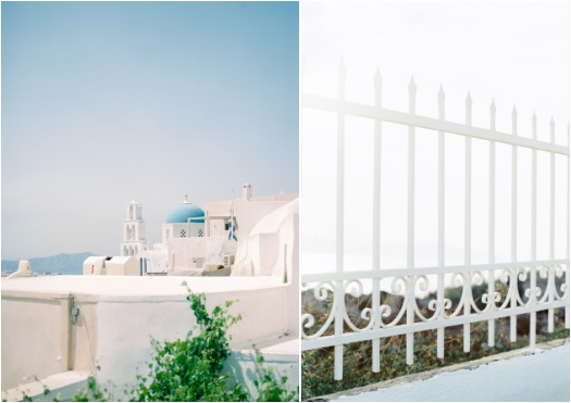 Blue and white tones of Santorini, Greece