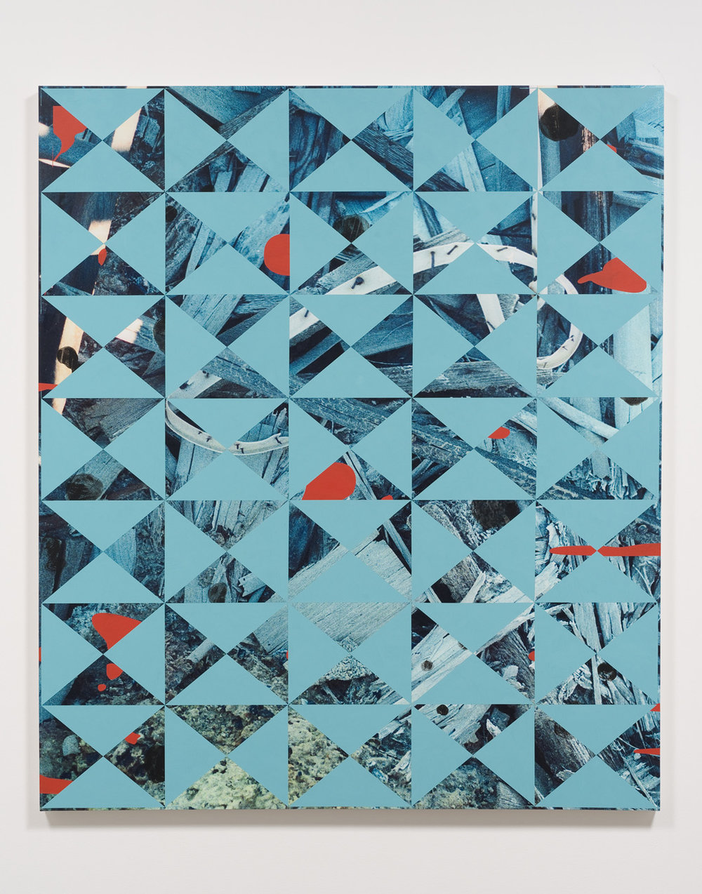 Salton Sea (heap), 2012  Acrylic, oil and UV cured ink on canvas over panel  77 x 66 inches  195.58 x 167.64 cm