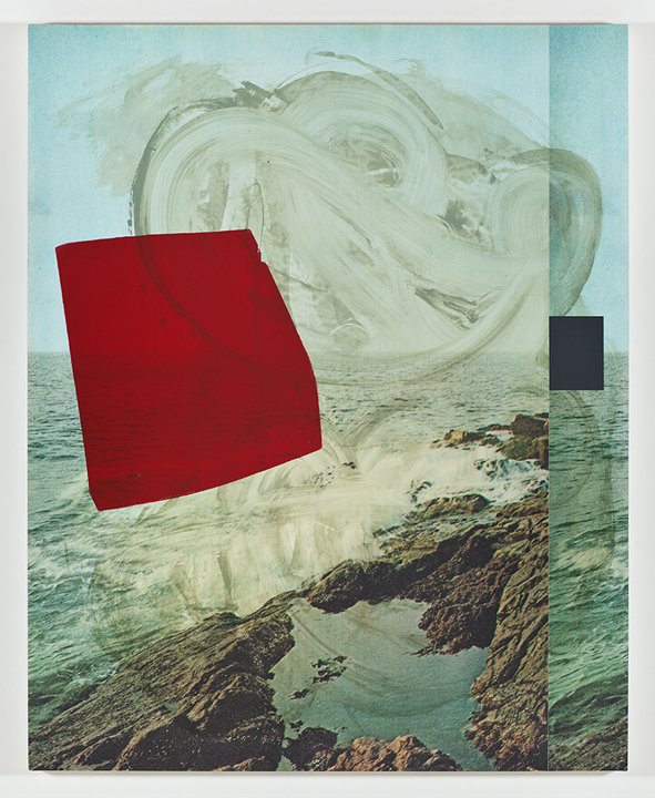 Screen (ocean), 2011  Acrylic, screen ink and UV cured print on canvas  over panel  60 x 48 inches  152.4 x 121.92 cm