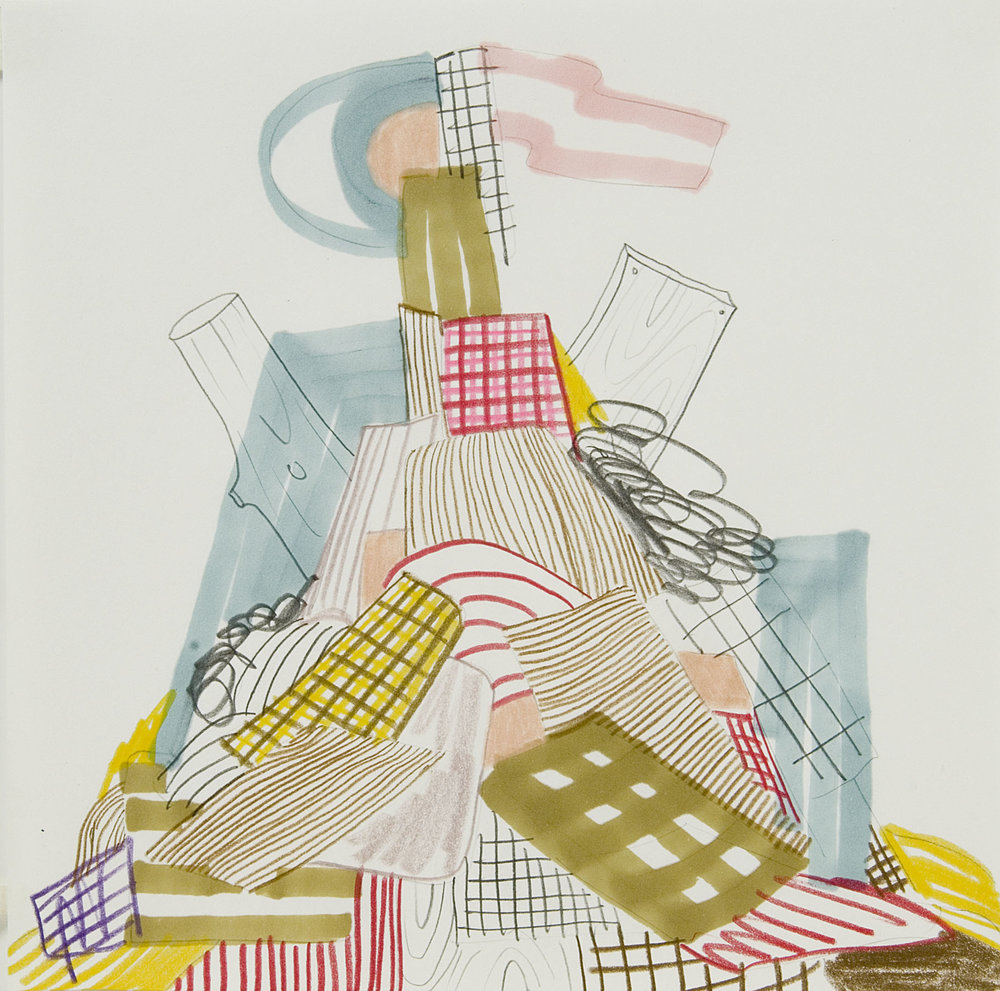 Untitled, 2007  Pencil and marker on paper  10 x 10 inches  25.4 x 25.4 cm
