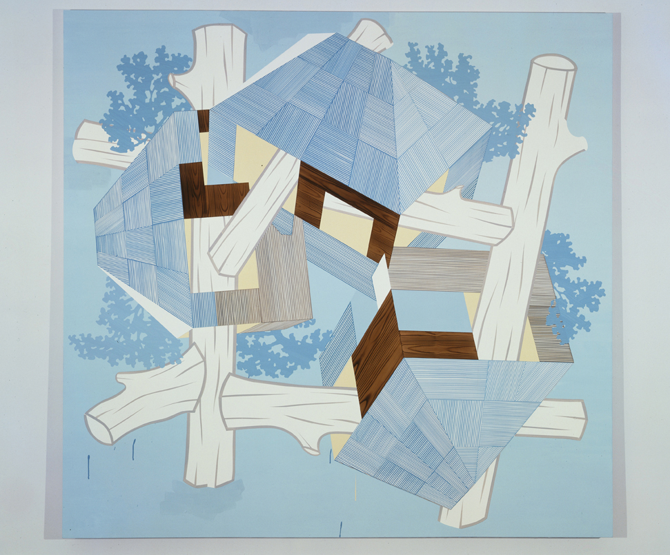 Blue Lodge, 2004  Acrylic on canvas over panel  80 x 83 inches  203.2 x 210.82 cm