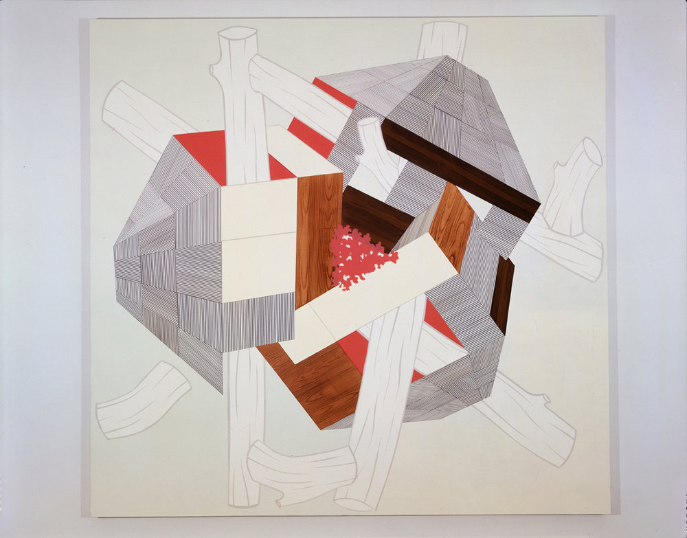 Knit, 2004  Acrylic on canvas over panel  80 x 83 inches  203.2 x 210.82 cm