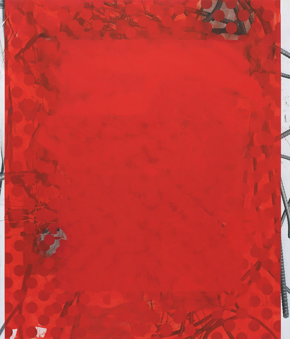 Red Wedding, 2014  Oil and UV cured ink on canvas over panel  84 x 72 inches  213.36 x 182.88 cm