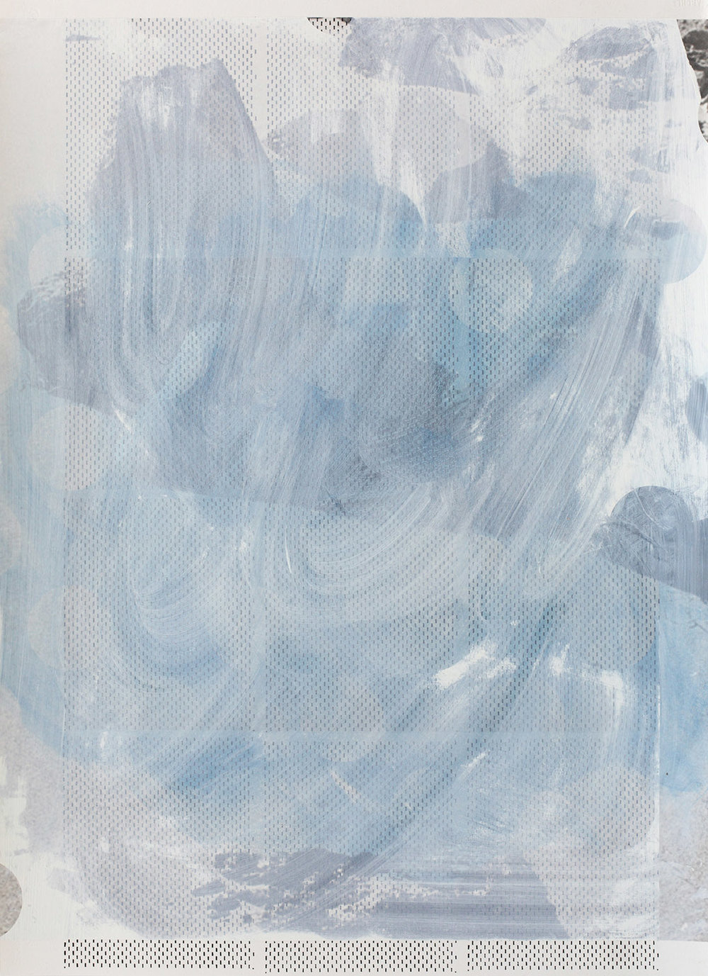 Untitled, 2014  Acrylic, oil and UV cured ink on paper  29-3/4 x 21-3/4 inches  75.57 x 55.25 cm