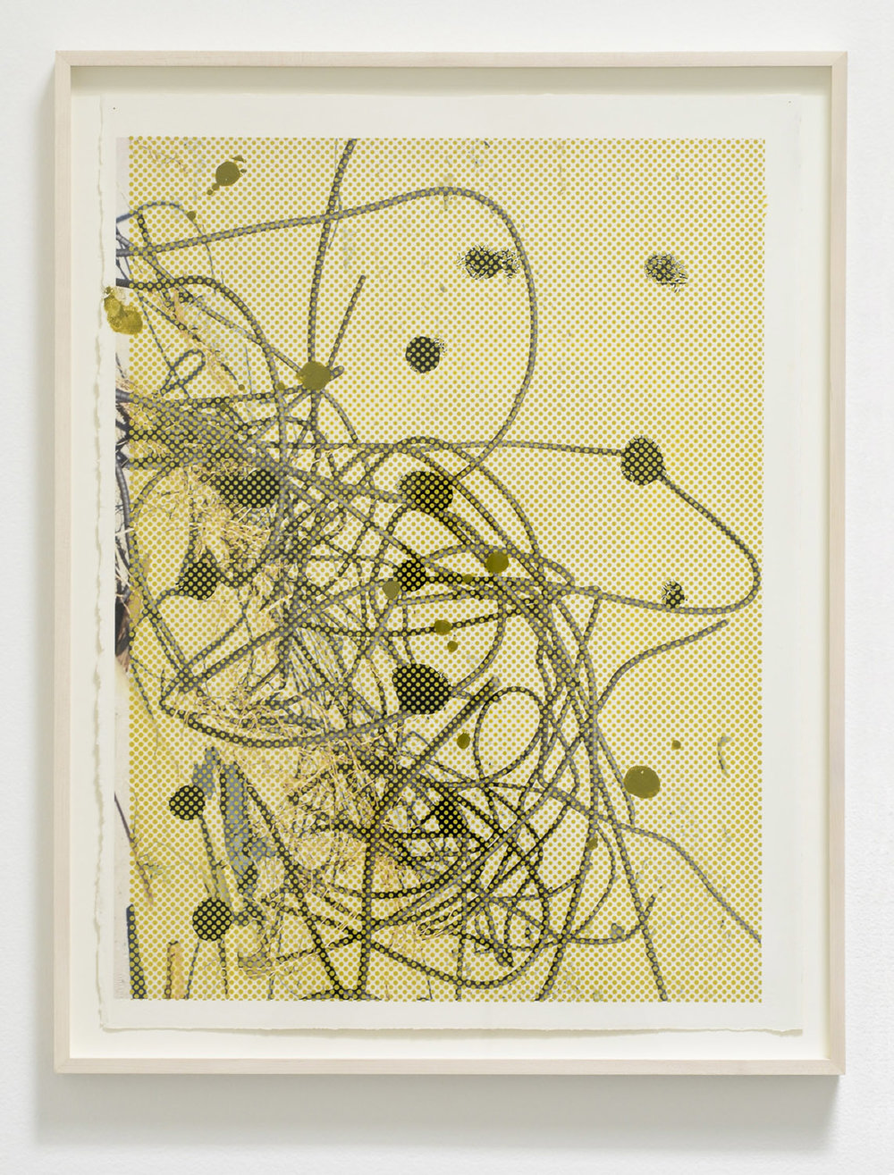 Untitled, 2013  Acrylic and UV cured ink on paper  33 x 25-1/2 inches  83.82 x 64.77 cm