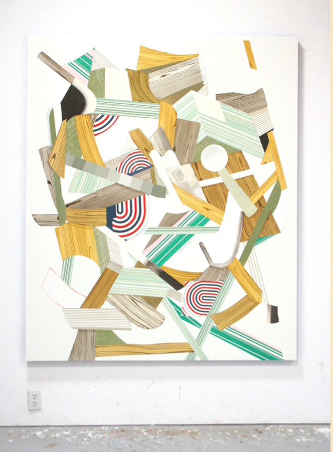 Untitled, 2008  Oil and acrylic on canvas over panel  72 x 60 inches  182.88 x 152.4 cm