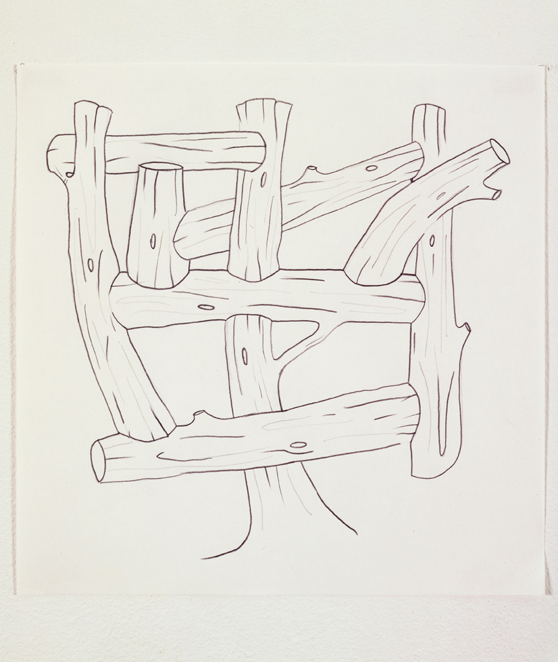Untitled, 2003  Pencil on paper  10 x 10 inches  25.4 x 25.4 cm