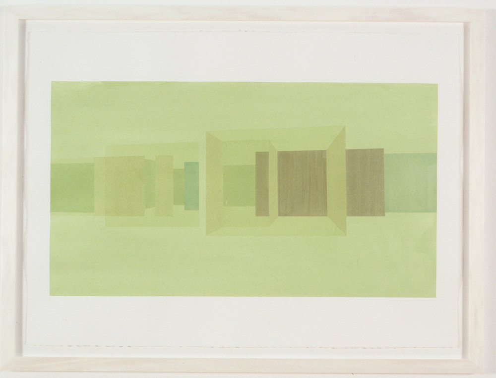 Exterior Study Back, 1999  Liquid acrylic on paper  22 x 30 inches  55.88 x 76.2 cm