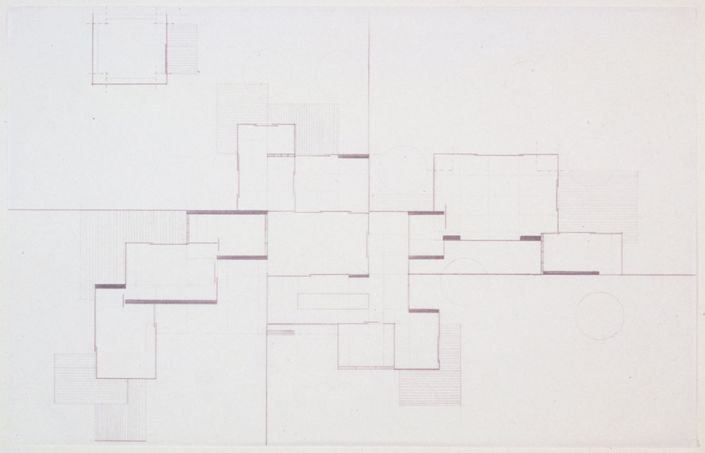 House Plan, 1999  Pencil on vellum  11 x 17 inches  27.94 x 43.18 cm