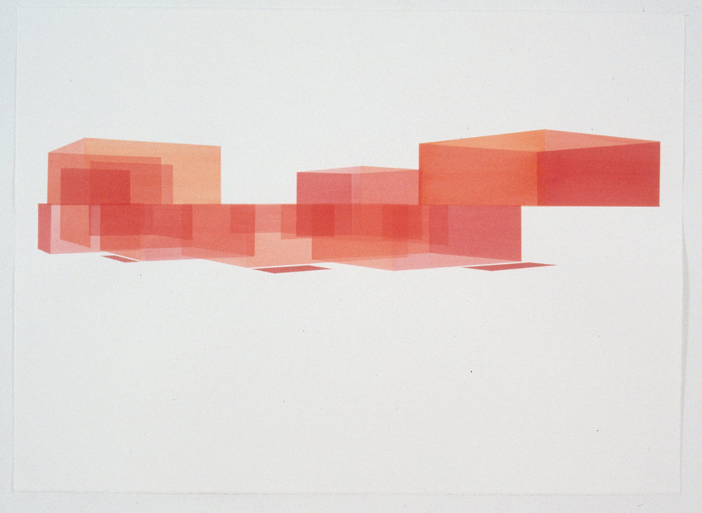 Red House Study, Exterior 8, 1999  Liquid acrylic on paper  22 x 30 inches  55.88 x 76.2 cm