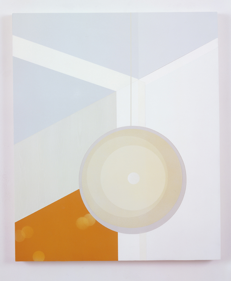 Corner Lamp, 1998  Acrylic on canvas over panel  36 x 30 inches  91.44 x 76.2 cm
