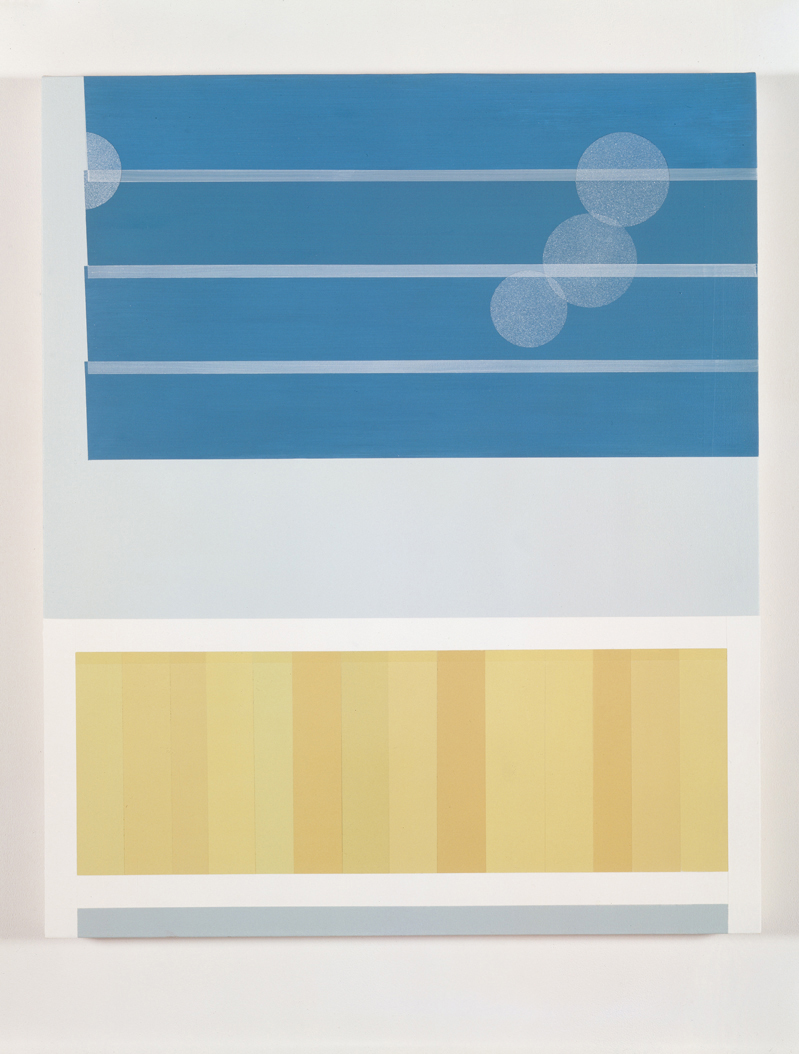 Louvers (Dusk), 1998  Acrylic on canvas over panel  36 x 30 inches  91.44 x 76.2 cm