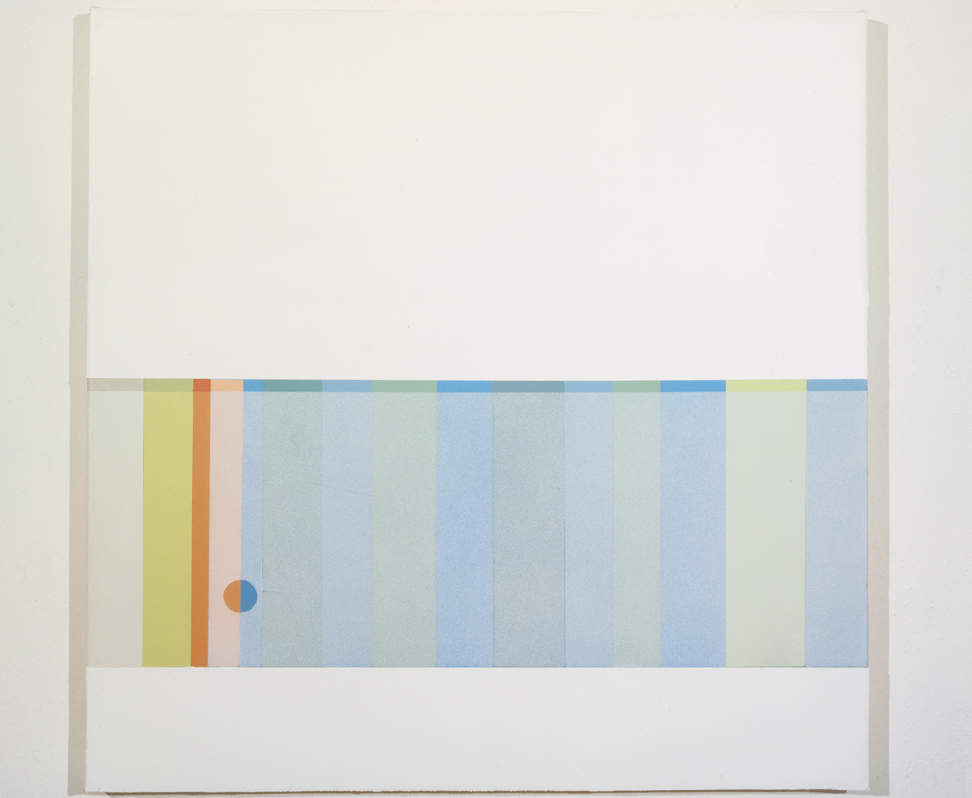 Frosted Panel (Open), 1997  Oil and acrylic on canvas over panel  24 x 24 inches  60.96 x 60.96 cm