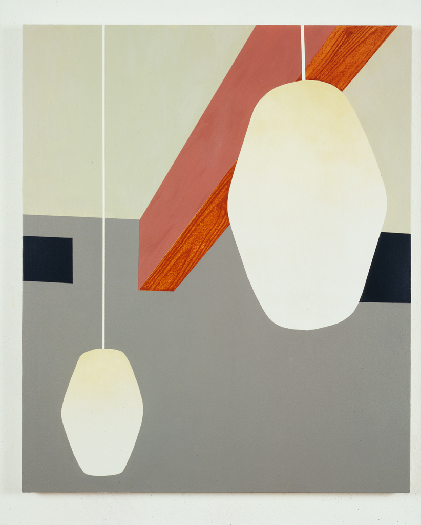 Two Lamps, 1996  Oil and acrylic on canvas over panel  36 x 30 inches  91.44 x 76.2 cm