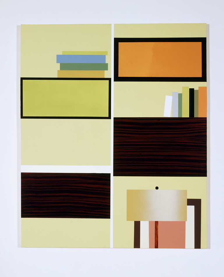Comprehensive Storage System, 1996  Oil and acrylic on canvas over panel  36 x 30 inches  91.44 x 76.2 cm