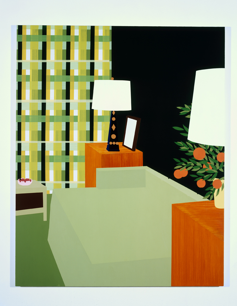 Untitled Interior 3, 1995  Oil and acrylic on canvas over panel  72 x 60 inches  182.88 x 152.4 cm